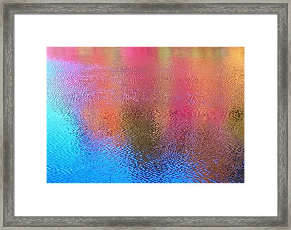 Fall Reflections In South Framed Print