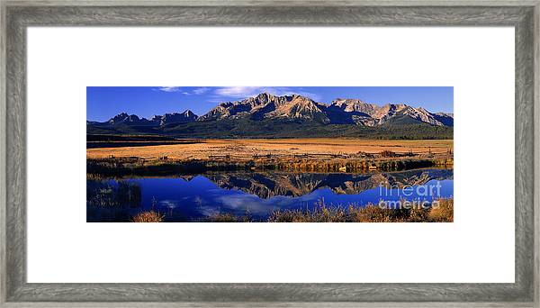 Fall Reflections Sawtooth Mountains Idaho Framed Print