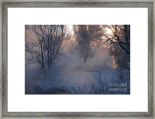 Fall River Steam Framed Print