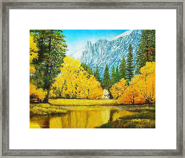 Fall Splendor In Yosemite Framed Print