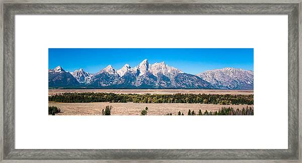 Fall Tetons Panorama   Framed Print