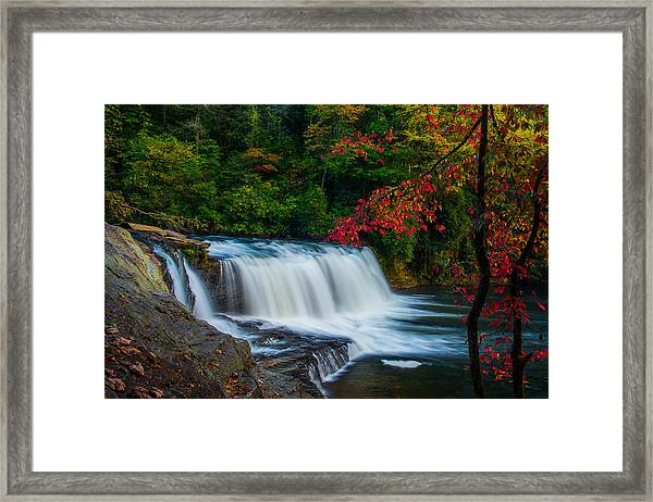 Fall Waterfall Framed Print by Griffeys Sunshine Photography