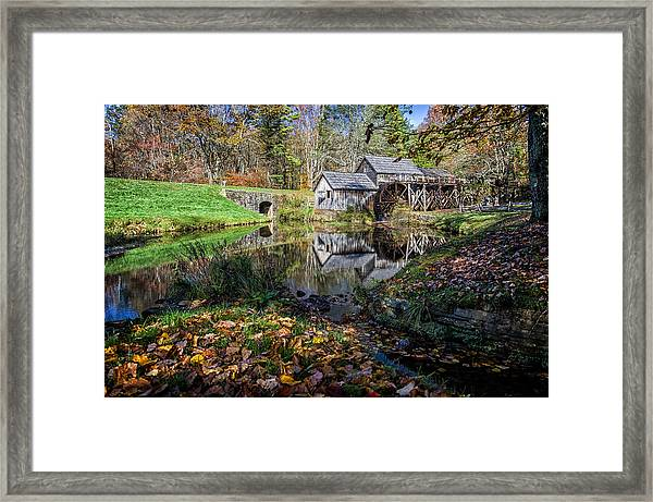Fallen Leaves At Mabry Mill Framed Print