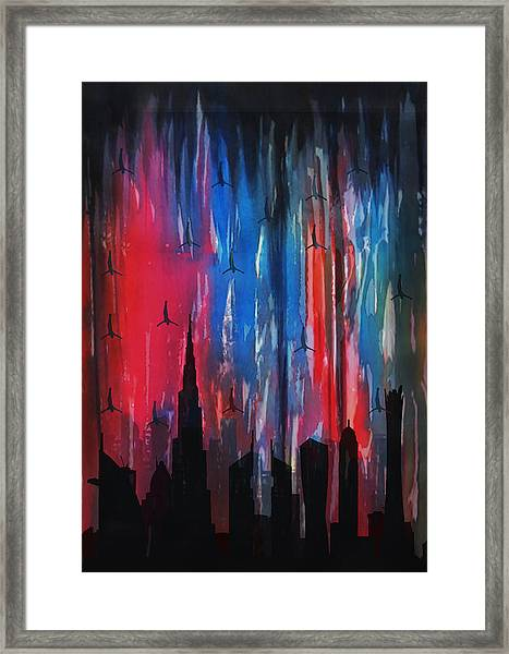 Falling Angels  Framed Print