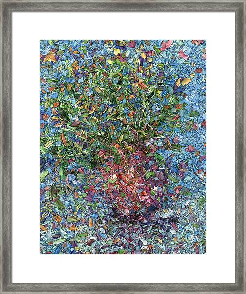 Framed Print featuring the painting Falling Flowers by James W Johnson