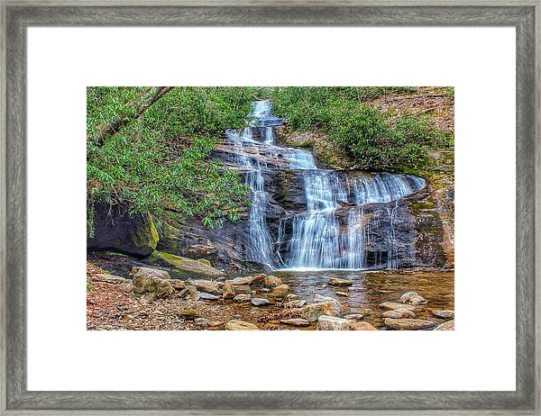 Falling From Mount Mitchell Framed Print