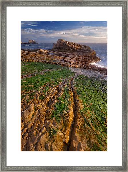 Panther Beach - Falling  Framed Print