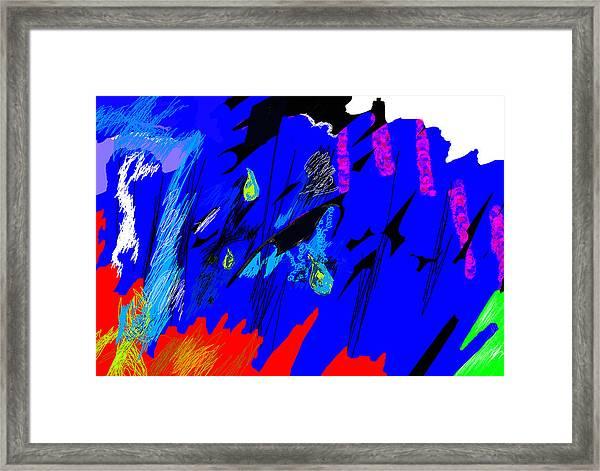 Falling Through Lightness  Framed Print