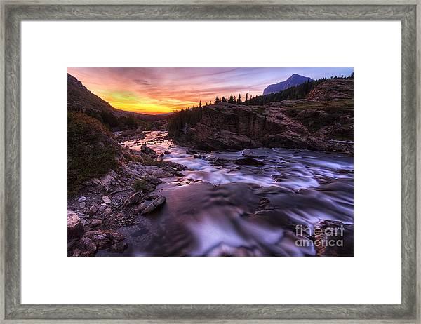 Falls At First Light Framed Print