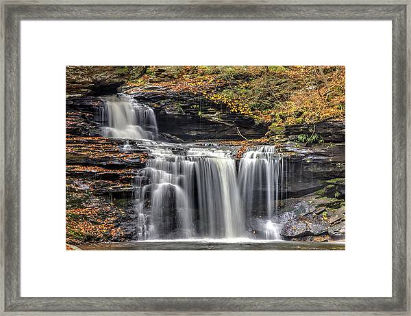 Falls At Ricketts Glen Framed Print by Zev Steinhardt