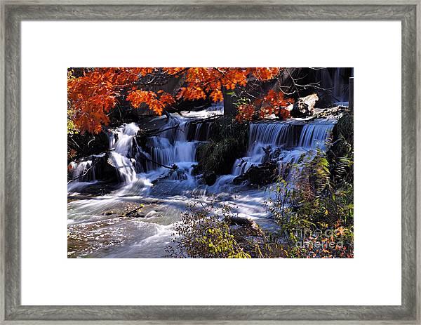 Falls In The Fall Framed Print