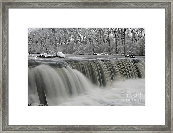 Falls In Winter Framed Print