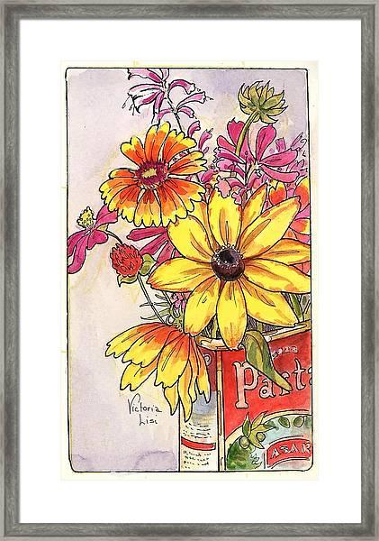 Fall's Last Bouquet Framed Print
