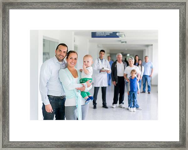 Family At The Hospital Framed Print by Andresr