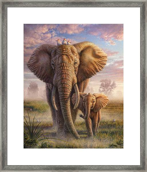 Family Stroll Framed Print