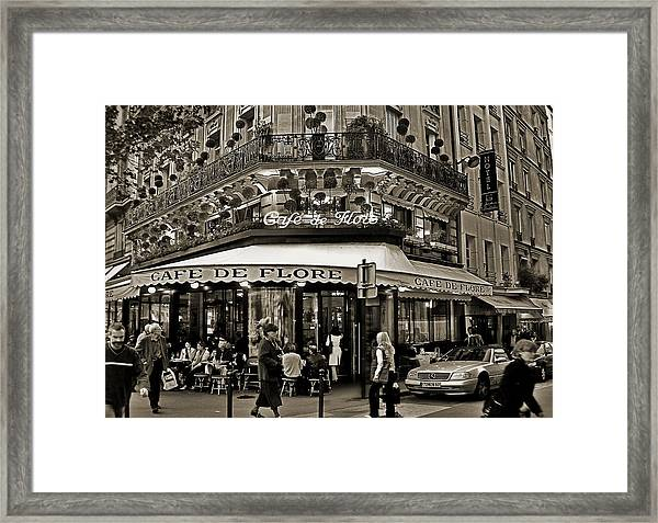 Famous Cafe De Flore - Paris Framed Print