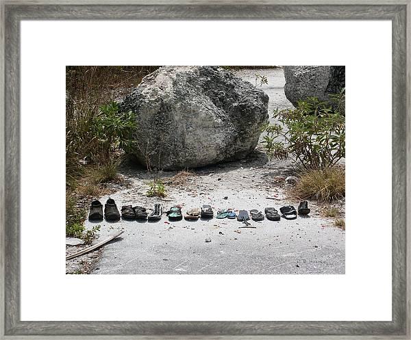 Famous Footwear Of The Keys Framed Print