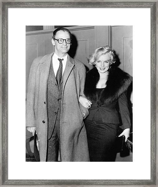 Marilyn Monroe And Arthur Miller Framed Print