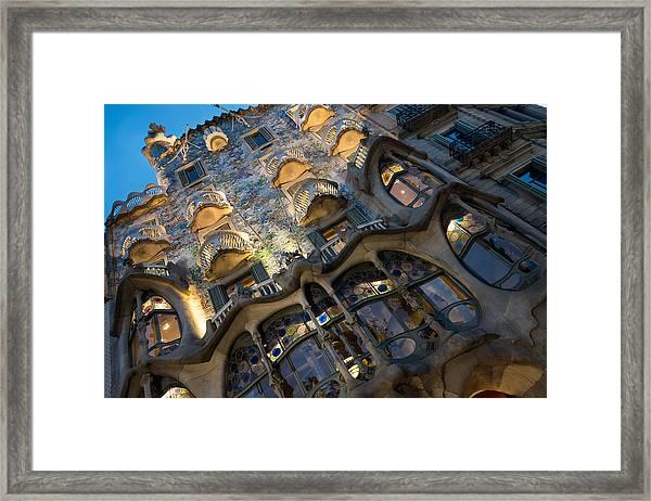 Fantastical Casa Batllo - Antoni Gaudi Barcelona Framed Print