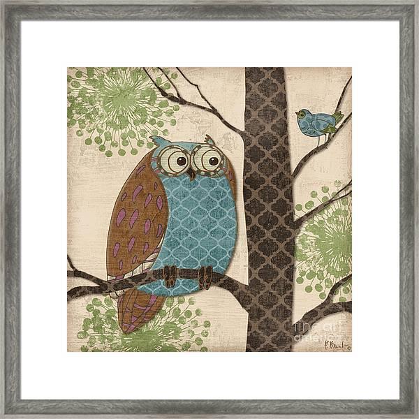 Fantasy Owls II Framed Print by Paul Brent