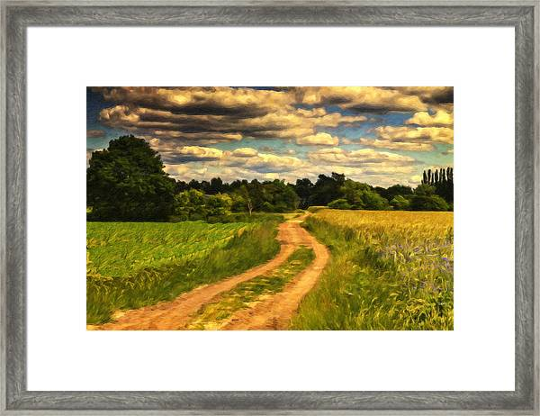 Farm Country Germany Ger3700 Framed Print