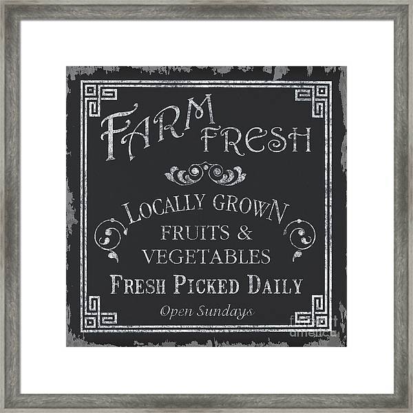 Farm Fresh Sign Framed Print