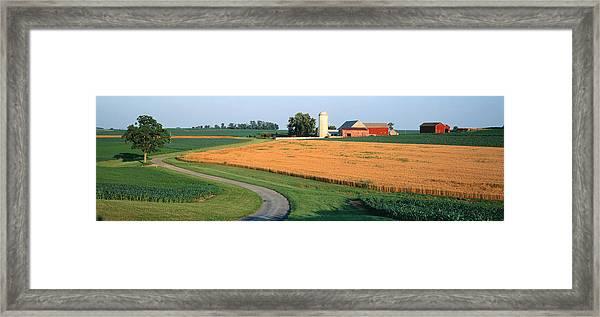 Farm Nr Mountville Lancaster Co Pa Usa Framed Print