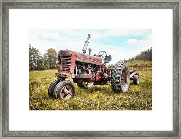 Farmall Tractor Dream - Farm Machinary - Industrial Decor Framed Print