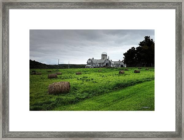 Farmhouse Bails Of Hay Framed Print