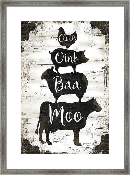 Farmhouse Stack Framed Print
