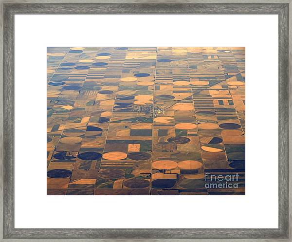 Farming In The Sky 2 Framed Print