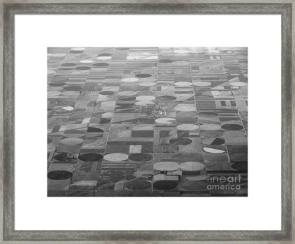 Farming In The Sky Framed Print