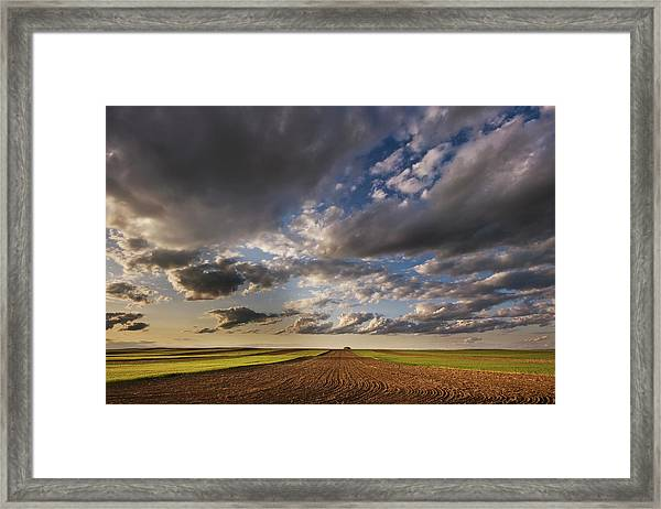 Farmland Under A Big Sky Framed Print