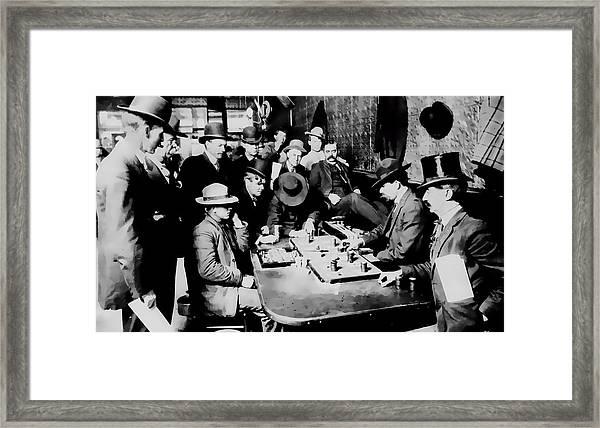 Faro Game Orient Saloon C. 1900 - Arizona Framed Print