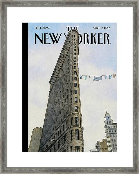 Fashion District Framed Print