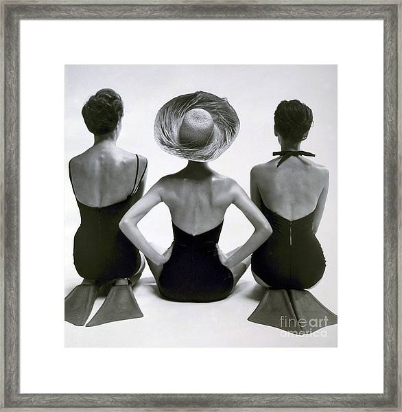 Fashion Models In Swim Suits, 1950 Framed Print