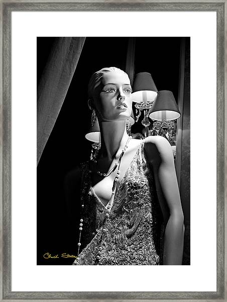 Fashionable Lady Framed Print