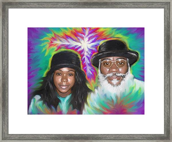 Father And Daughter Spirit Ministry  Framed Print