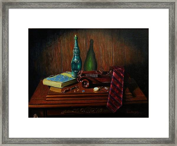 Father's Touch Framed Print