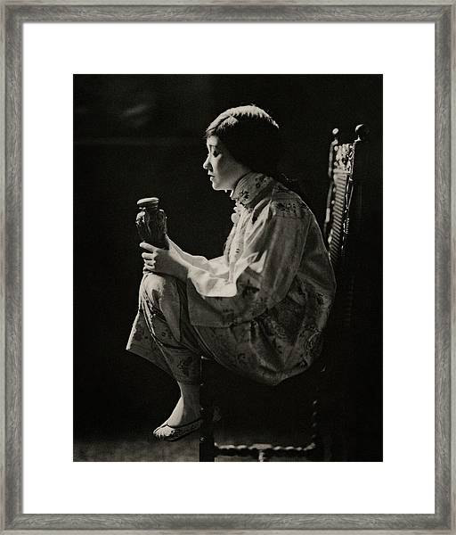 Fay Bainter On Stage Framed Print