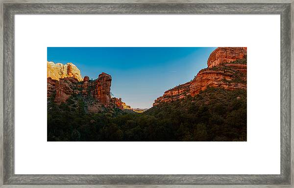Fay Canyon Outlook Framed Print