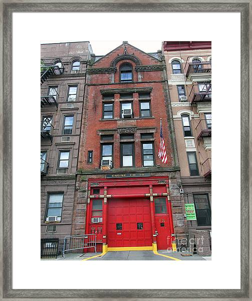 Fdny Engine 74 Firehouse Framed Print