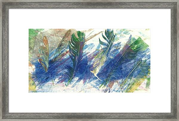 Feather Dance Framed Print