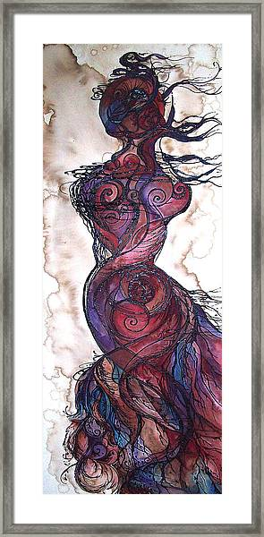 Feather Flow Framed Print