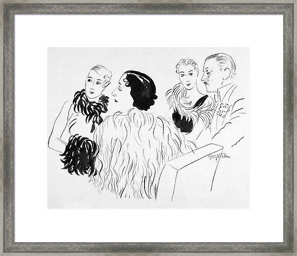 Feathered Clothing Framed Print