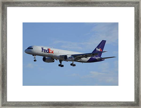 Fedex Express Boeing 757-224 N942fd Phoenix Sky Harbor February 24 2015 Framed Print