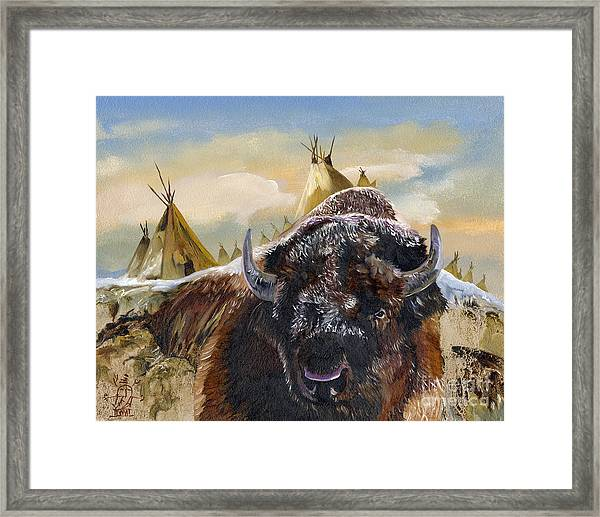 Feed The Fire Framed Print