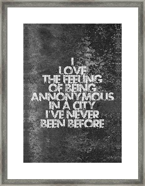 Feeling Quotes Poster Framed Print