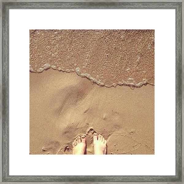 Feet On The Beach Framed Print
