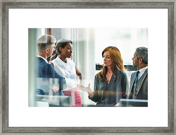 Female Business Executive Leading Team Meeting Framed Print by 10'000 Hours